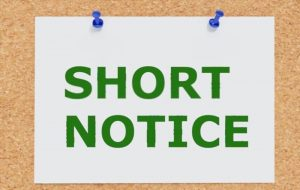 short notice theory test